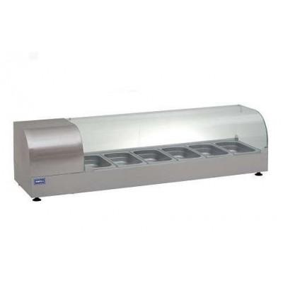 Витрина холодильная (суши кейс) ВХН-Р-5-1225