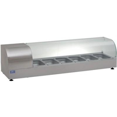 Витрина холодильная (суши кейс) ВХН-Р-6-1400