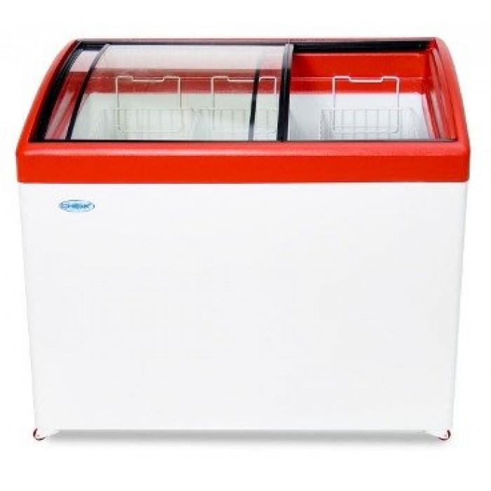 Морозильный ларь с гнутым стеклом СНЕЖ МЛГ-350