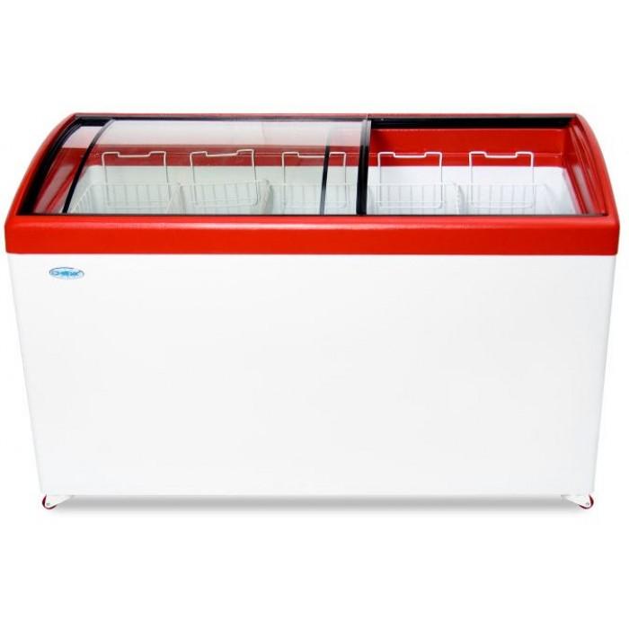 Морозильный ларь с гнутым стеклом СНЕЖ МЛГ-500