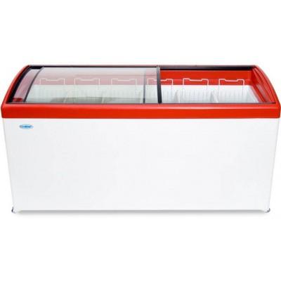 Морозильный ларь с гнутым стеклом СНЕЖ МЛГ-600