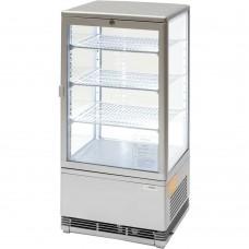 Витрина холодильная серебристая Stalgast 78л 852175