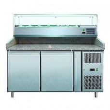 Стол для пиццы с витриной COOLEQ PZ 2600TN-VRX 1500/380