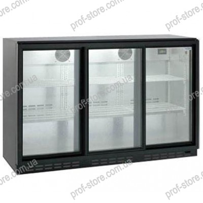 Барный холодильный шкаф HURAKAN HKN-GXDB315-SL
